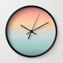 Ocean Sunrise Gradient Wall Clock