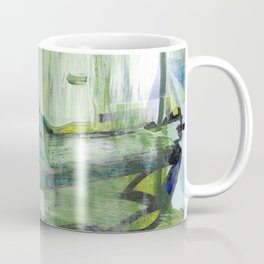 355 Jungle Lane Fine Art Abstract Painting Coffee Mug