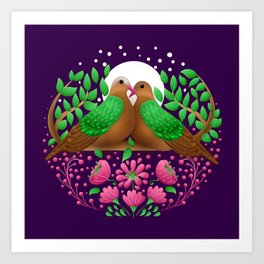Emerald Dove by SCD Balaji Art Print