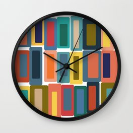 Shapes and Colors 40 Wall Clock