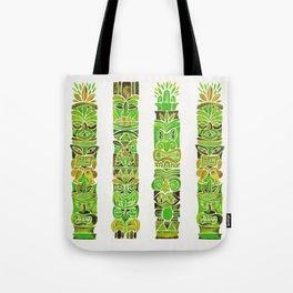 Tiki Totems – Green Tote Bag
