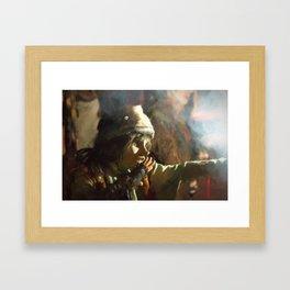 The little beggar Framed Art Print