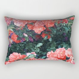 Psychedelic summer florals Rectangular Pillow