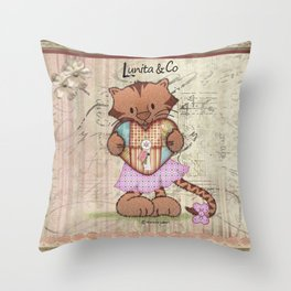 Sweet little tiger Throw Pillow
