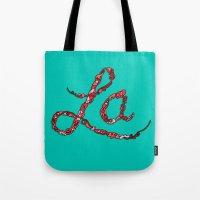 la Tote Bags featuring LA by Chris Piascik