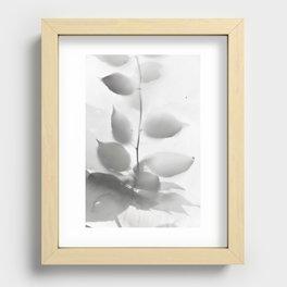 Leaf shadow Recessed Framed Print