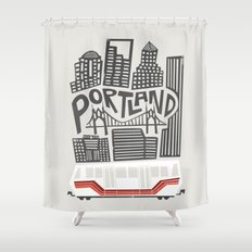 Portland Cityscape Shower Curtain