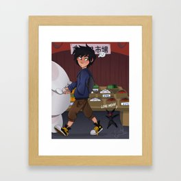Hiro and His Robots Framed Art Print