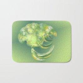 The green Brain Bath Mat