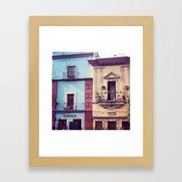 Mexican houses Framed Art Print