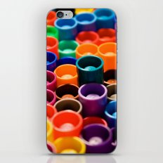 stacked markers iPhone & iPod Skin