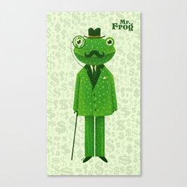 Mr. Frog Canvas Print