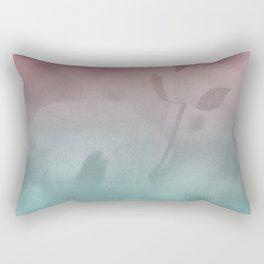 Pink Blue Poppies Rectangular Pillow