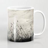 grass Mugs featuring Grass by Angela Fanton
