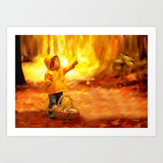 The Little Collector - Painting Style Art Print