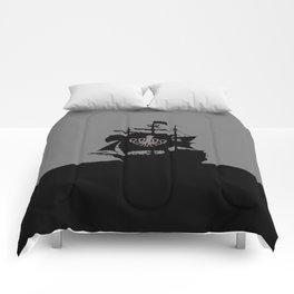ship in the ocean Comforters