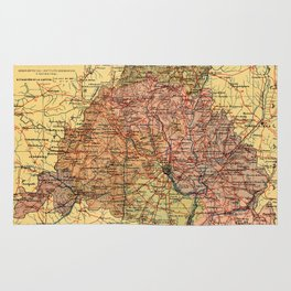 Map Of Madrid 1900 Rug