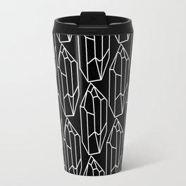 Black Crystal Pattern Travel Mug