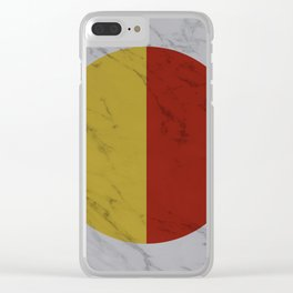 Yellow and Red Halves Clear iPhone Case