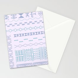 Hand-drawn Tribal Tattoos in Lilac Stationery Cards