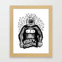 Robot-Monster Framed Art Print