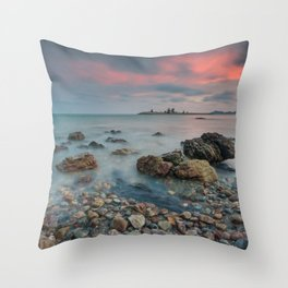 sea nature beach 4 Throw Pillow