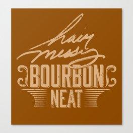 Hair Messy Bourbon Neat Canvas Print