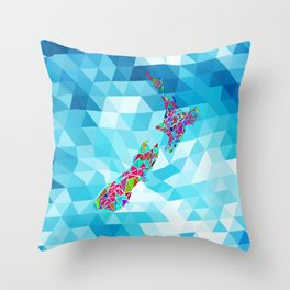 New Zealand Map : Square Throw Pillow