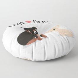 """Custom Artwork, """"Otis and Arnold"""" Floor Pillow"""
