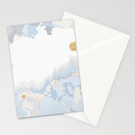 Blue & Gold Painting Stationery Cards