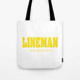 "A Simple Football Tee For Footballers Saying ""Lineman A.k.a. Brick Man"" T-shirt Design Goal Strike Tote Bag"