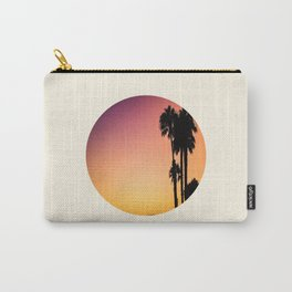 Palm Tree Silhouette & Orange Purple Sunset Carry-All Pouch