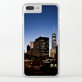 fidi at night Clear iPhone Case