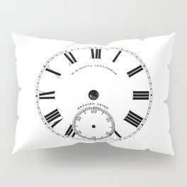 Time goes by vintage clock Pillow Sham
