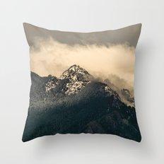 Snow Fog Mountain Olympic National Park foggy forest trees travel love adventure wild america sky 6 Throw Pillow