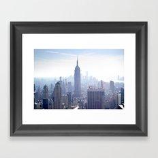 New York sky line Framed Art Print