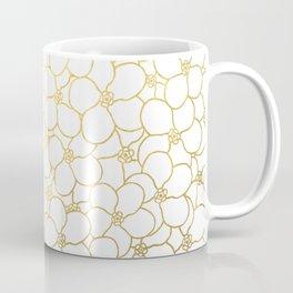 Forget Me Knot White Gold Coffee Mug
