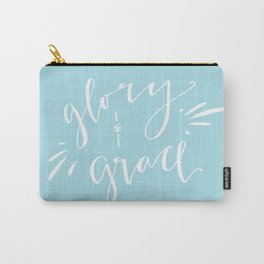 Glory and Grace // Blue Carry-All Pouch