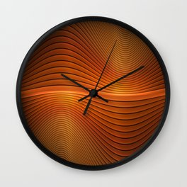 Orange Sine Wave Wall Clock