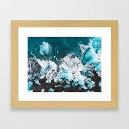 Diamond Beach, Iceland v2 Framed Art Print