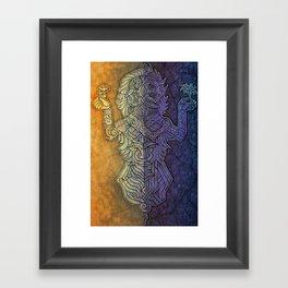 Gemini Art : Duality inside Framed Art Print