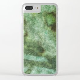 stained fantasy mossy Clear iPhone Case