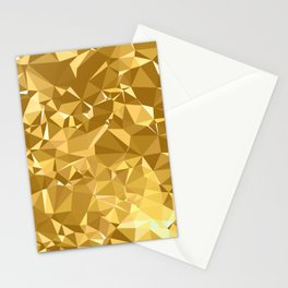 Gold Triangles Stationery Cards