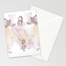All that Shimmers - Pink + Gold Geode Stationery Cards