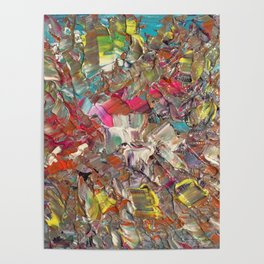 Abstract Acrylic Palette Knife painting Poster