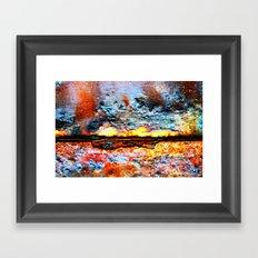 Something is Burning Framed Art Print