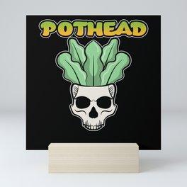 Gardener love Pothead Skull botanic Flower Power Mini Art Print
