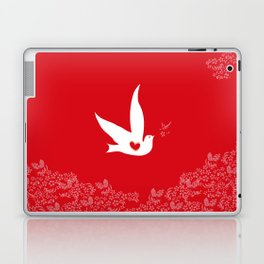 Love and Freedom - Red Laptop & iPad Skin