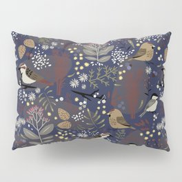 Winter Bird Pattern Pillow Sham