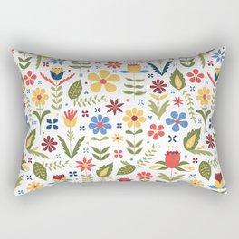 folky floral pattern Rectangular Pillow